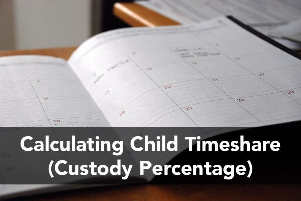 Calculating Child Timeshare (Custody Percentage)