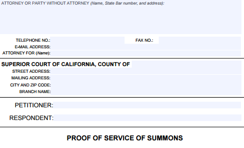 fl115 California Divorce Form FL-115 - Cristin Lowe Law
